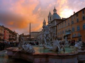 Rome's sunset